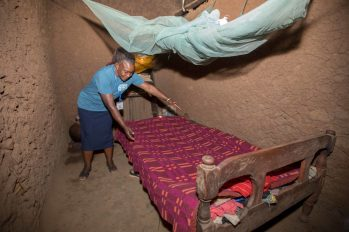 Space is tight in their little clay home in the countryside of Bungoma