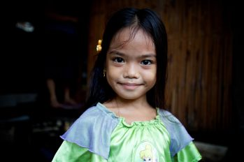 Precious little princess on Palawan Island in the Philippines