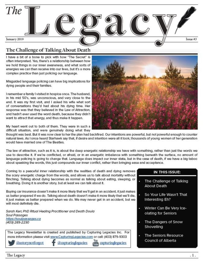 The Legacy Newsletter Issue #3