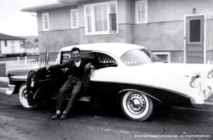 Man and his new Chevrolet Car