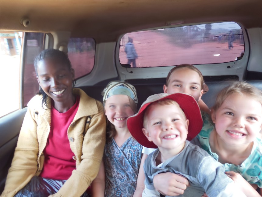 Agnes taxi trip with the kids