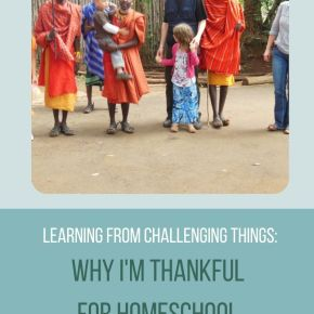 why I'm thankful for homeschooling: how to learn from challenging things
