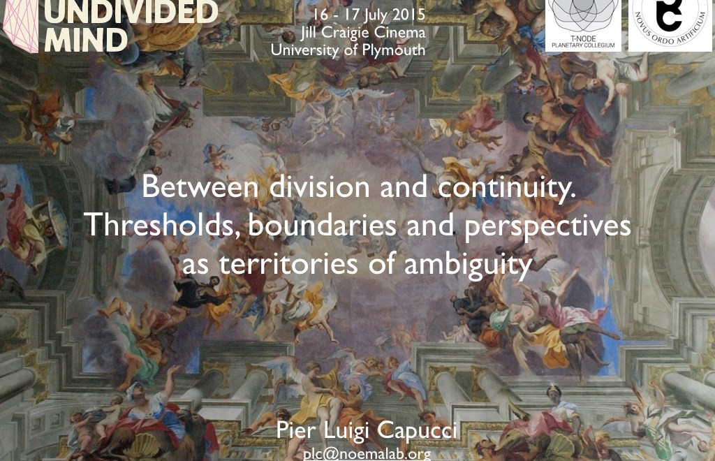 Thresholds, boundaries and perspectives as territories of ambiguity