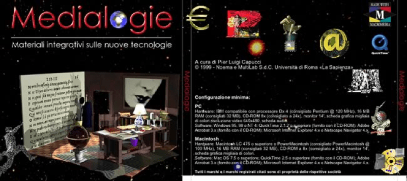 La copertina del CD-ROM / The CD-ROM cover