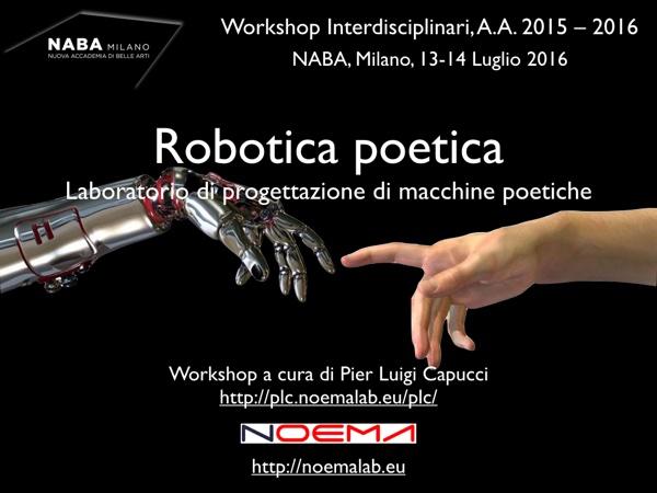 Robotica Poetica / Poetic Robotics