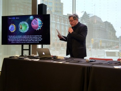My presentation at the National Art Centre in Ottawa