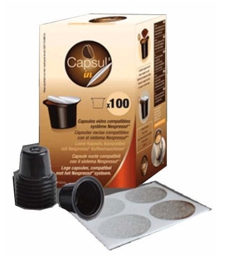 Capsul'in - Bolsa Para 100 Cápsulas De Café Vacías Capsulin