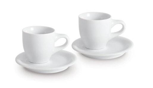 Kahla Cafe Sommelier Espresso Doppio - Juego de tazas (4 unidades:2 tazas y 2 platillos)