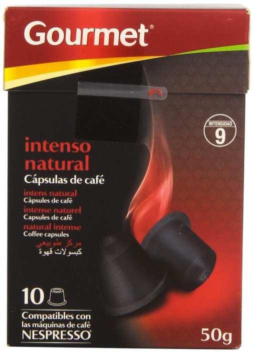 Dónde comprar las capsulas de café Nespresso más baratas: Gourmet - Capsulas de café - Intenso natural - 10 capsulas