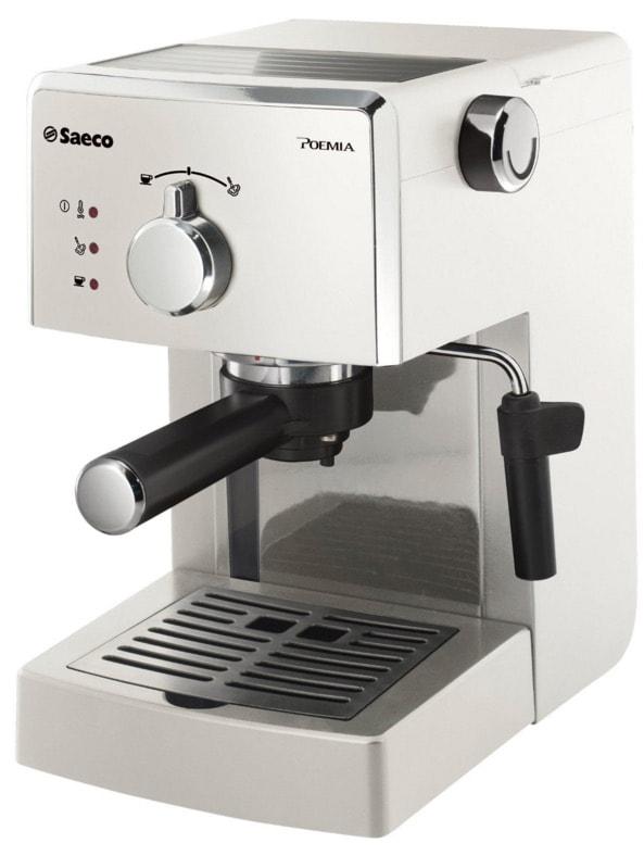 Saeco Poemia - Cafetera espresso manual, para café molido y monodosis ESE