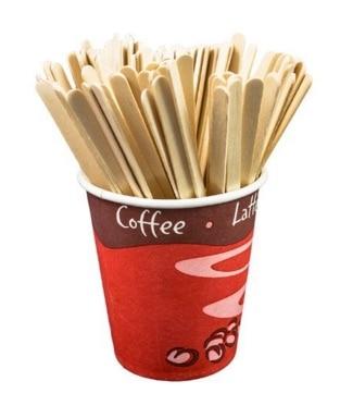 Agitadores de café de plástico vs agitadores de café de madera