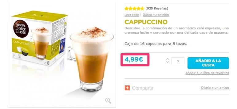 Dónde comprar las cápsulas de café Dolce Gusto rebajadas de precio
