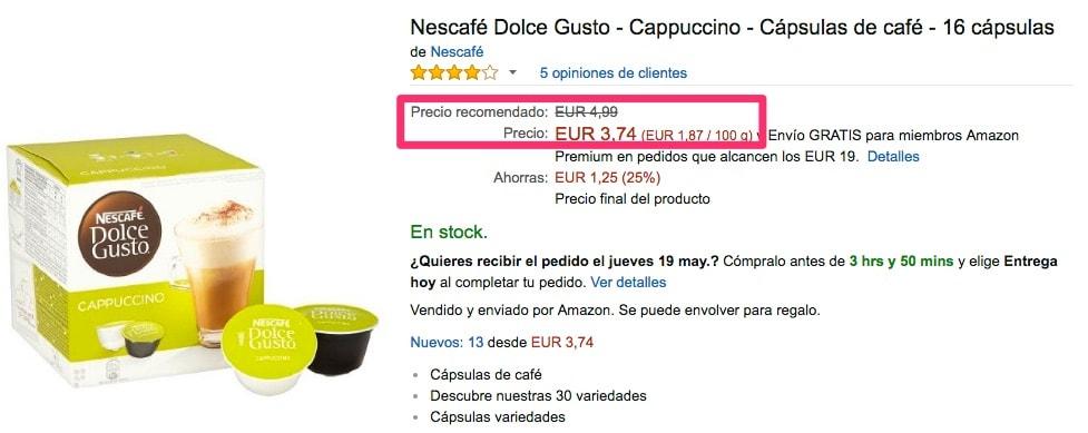 Nescafé Dolce Gusto - Cappuccino - Cápsulas de café - 16 cápsulas