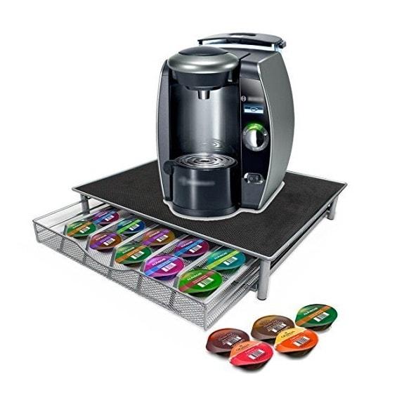 Soporte para cafeteras y cajón para almacenar cápsulas de Top Home Solutions
