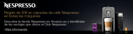 Recibe 20€ de regalo para cápsulas de café por la compra de tu cafetera Nespresso