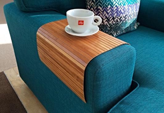 Bandeja de sofá flexible hecha de bambú natural