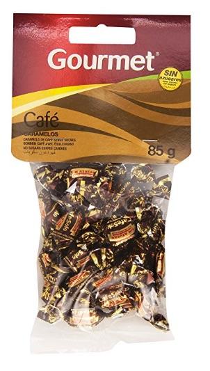 Dónde comprar caramelos de café sin azúcar por menos de 1 euros la bolsa de 85 gr.
