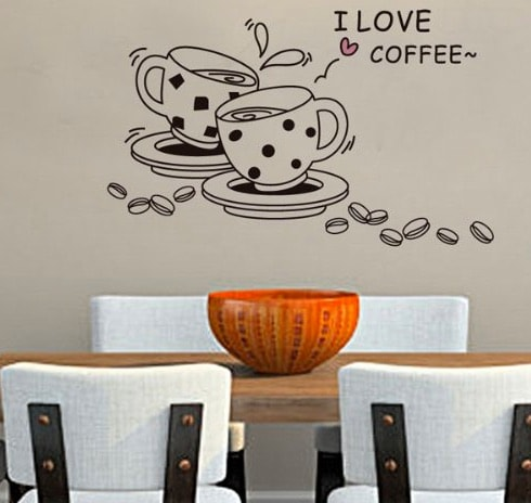 "Vinilo ""I Love Coffee"""