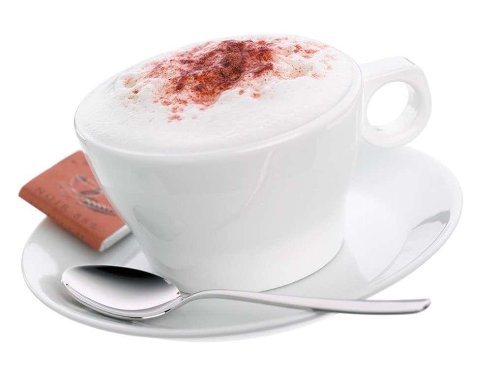 WMF - Taza Café Cappuccino con Plato y Cuchara 0,15l , 6cm altura Barista