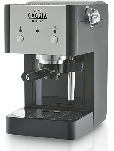 Gaggia RI8425/11 - Cafetera (Independiente, Máquina espresso, 1 L, De café molido, 950 W, Negro, Plata)