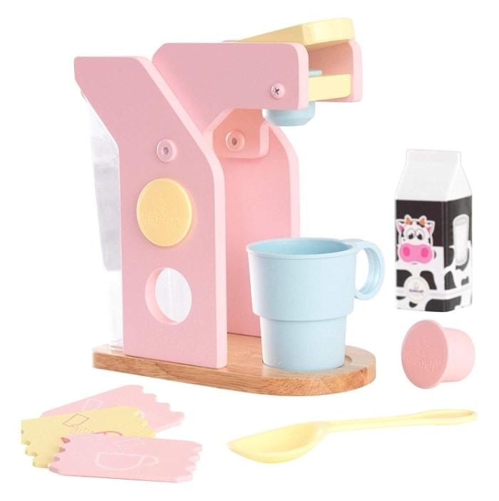 KidKraft 63380 - Juego infantil con cafetera de madera con accesorios incluidos