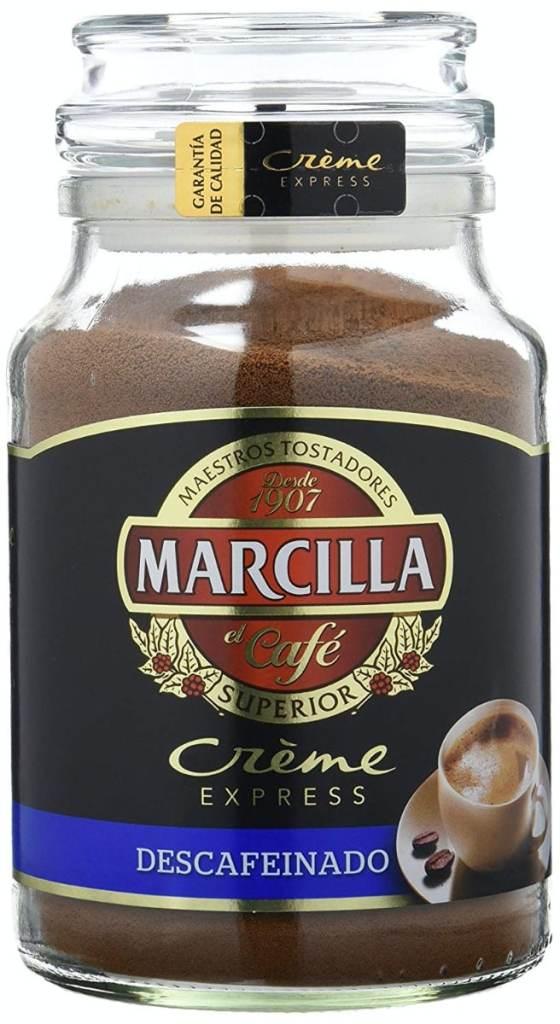 Marcilla Crème Express - Café soluble descafeinado, 200 gramos