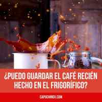 ¿Cuánto dura el café hecho? ¿Puedo guardar el café en el frigorífico?