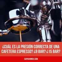 ¿Cuál es la presión correcta de una cafetera espresso? ¿9 bar? ¿15 bar? ¿19 o 20 bar?