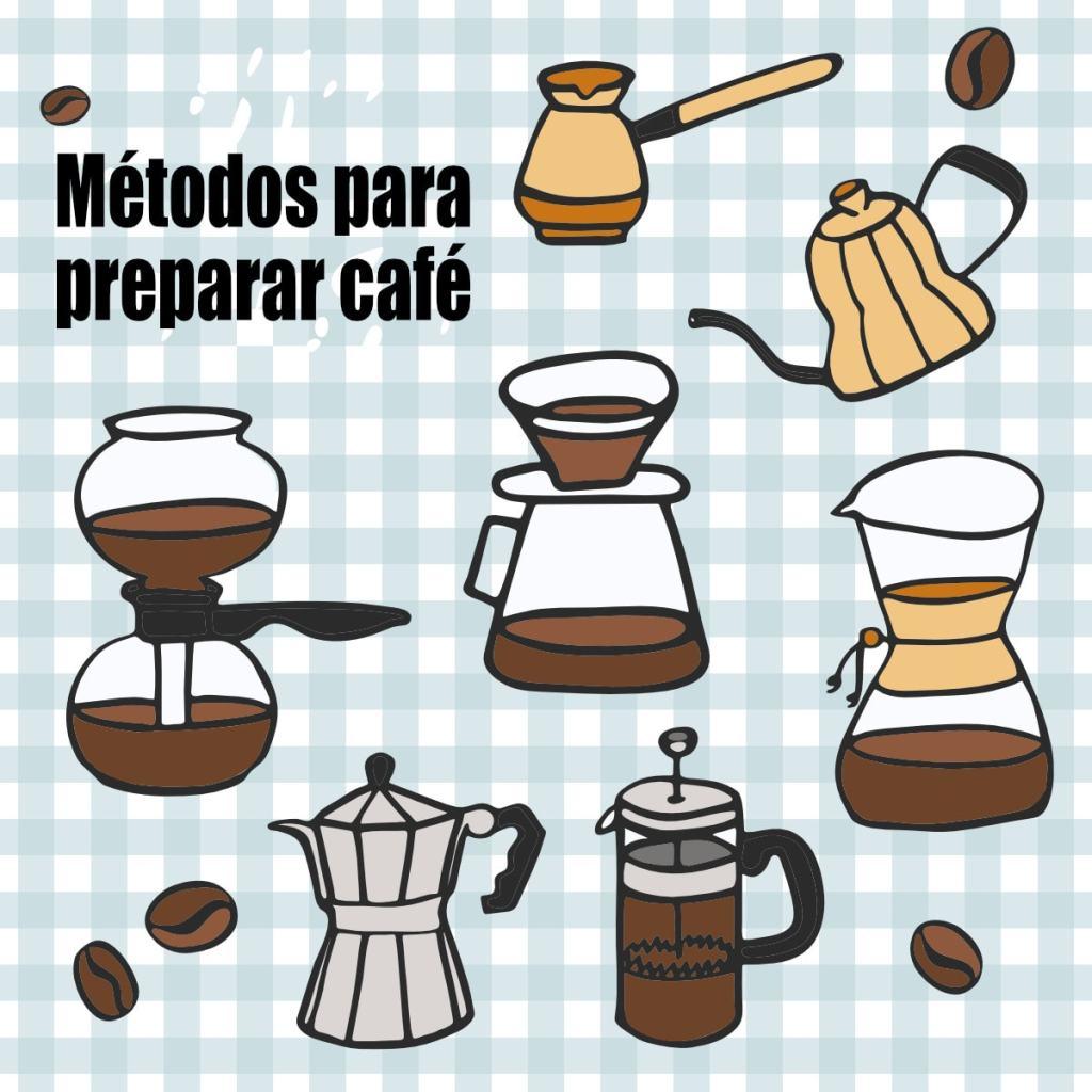 metodos preparar cafe