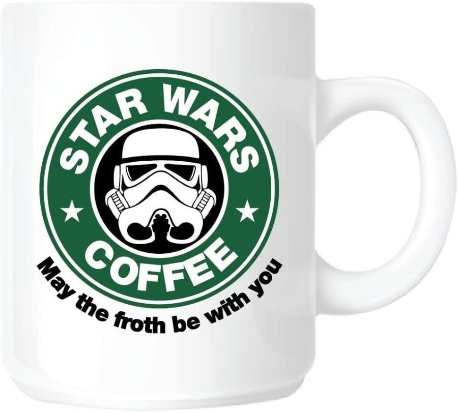 Taza con diseño de Star Wars con el Logotipo de Starbucks Coffee