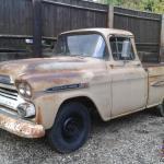 1958 Chevrolet Apache Fleetside Pick Up Truck Rare Big Back Window Deluxe Cab