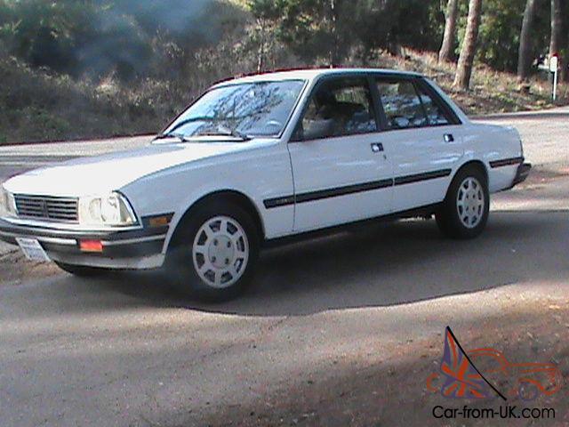 Rare Beautiful 1988 Peugeot 505 Glx V6 Sedan 95k Miles Books Records Excellent