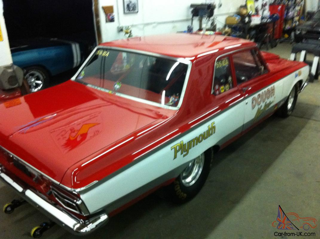 1964 Plymouth Savoy Base 7 0L Super Stock Drag Car With Aluminum     1964 Plymouth Savoy Base 7 0L Super Stock Drag Car With Aluminum Front End