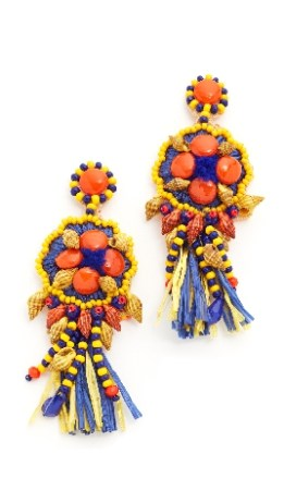 African Raffia Coliseum Earrings
