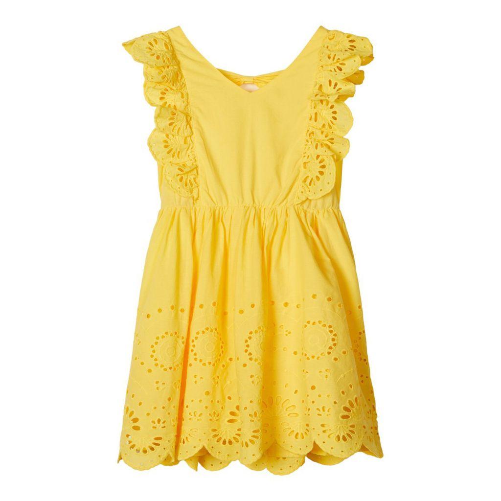 Pitkähihainen mekko Keltainen NAISET   H&M FI