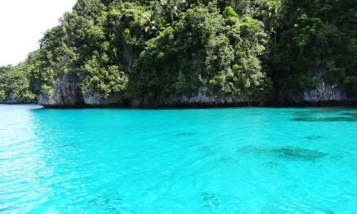 Dreamlike Turquoise-Colored Water of Kabakongan Cove, Basilisa, Dinagat Islands