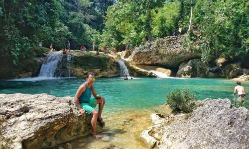 Splashed into Jade-colored Baobao Falls, Diatagon, Lianga, Surigao del Sur