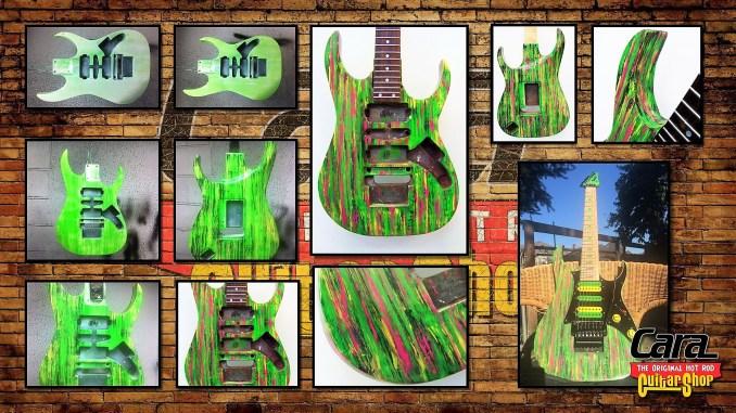 Ibanez Jem, Acid Washed Finish, Cara Guitars Refibnishing