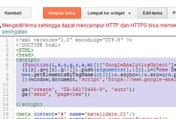 Cara Memasang Kode Google Analytic Di Blogspot