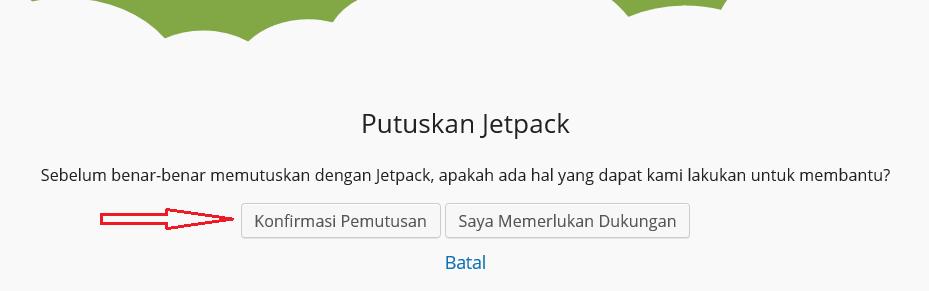 Cara Disconnect Jetpack dan Ganti Akun WordPress Di Situs Anda