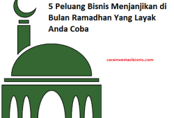 5 Peluang Bisnis Menjanjikan Di Bulan Ramadhan Layak Anda Coba