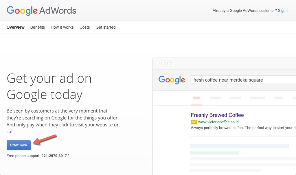 Membuat Akun google adword