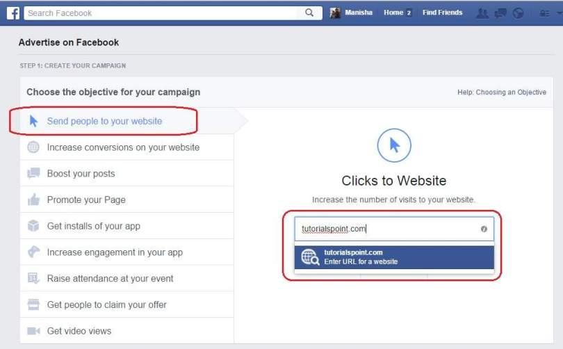 Menyiapkan Halaman facebook ads