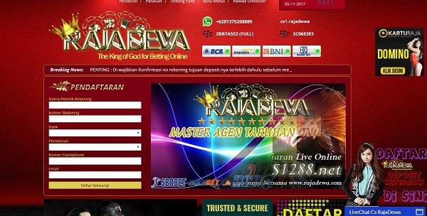 Form Pendaftaran RajaDewa.net Agen Sbobet Judi bola Online resmi