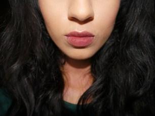 Lip swatch of GOSH Velvet Touch Matt Lipstick