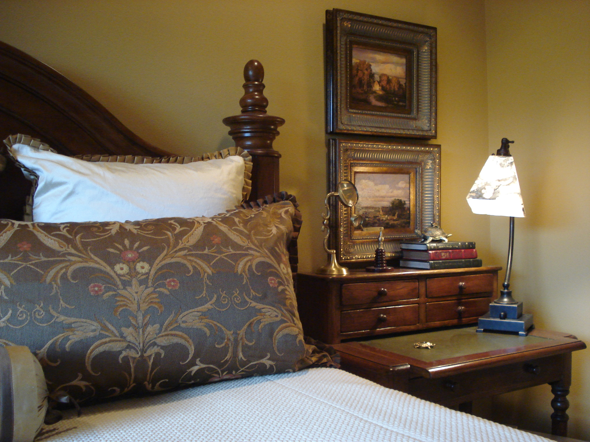 Tuscan Master Bedroom Desk Area