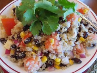Quinoa, black bean & corn salad