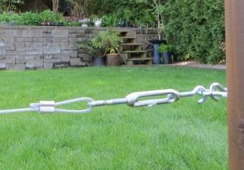 Espalier fence - centre buckle