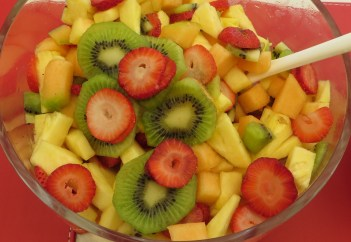 Delicious fruit salad - full of antioxidants, vitamins and
