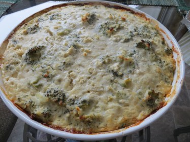 Low fat broccoli quiche made with egg white substitutes - a good alternative